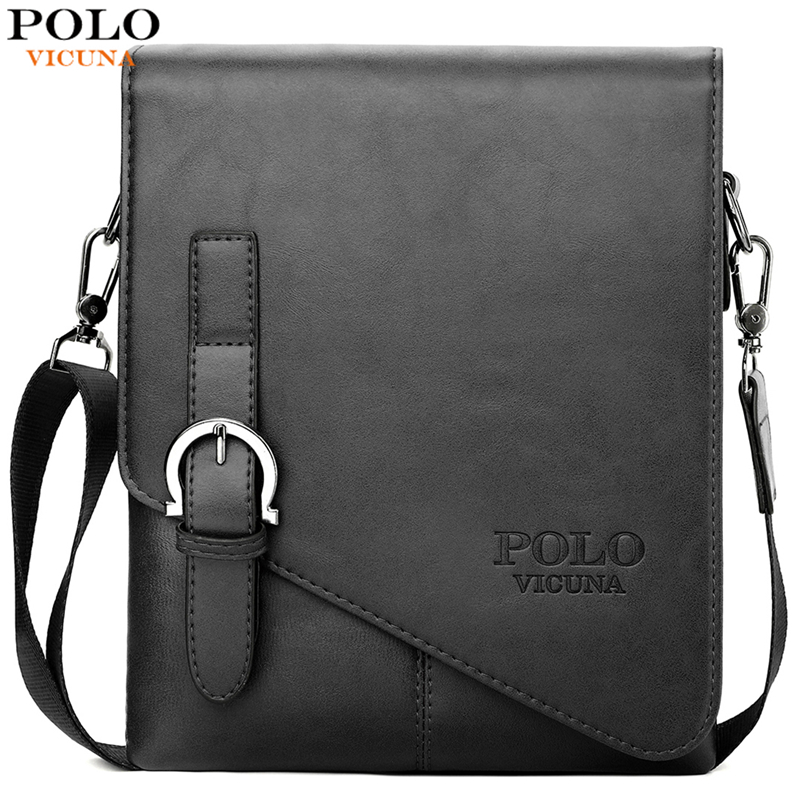 VICUNA POLO Fashion Men's Leather Shoulder Bags Factory Direct Sale Brand Cross Body Messenger Bags Casual Business Man Bag