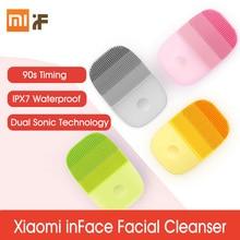 شاومي سونيك الكهربائية الجمال الوجه آلة التنظيف العميق مقاوم للماء الوجه تطهير العناية بالبشرة مدلك فرشاة الرؤوس السوداء