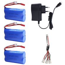 7.4V 2200mAh lipo battery JST Plug 18650 and charger set for remote control helicopter