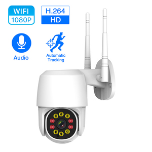 Cámara IP WIFI de 1080P, PTZ, 360 °, inalámbrica, domo de velocidad, CCTV, cámaras de seguridad de 2MP, 1080P IR, hogar, exterior, impermeable