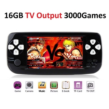 4.3 Inch Handheld Game Player Built-in 3000 Classic Game 16GB 64Bit Portable Multifunction Video Game Console Support AV Output