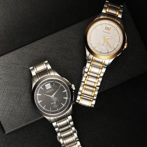 Image 5 - Retro Mens Business Watches Sapphire Top Luxury Brand Quartz Watch Men Casual Stainless Steel Waterproof Clock Relogio Masculino