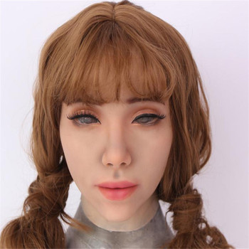 Cosplay silicone mask artificial realistic skin may mask latex sexy cosplay for crossdresser transgender male shemale Drag Queen