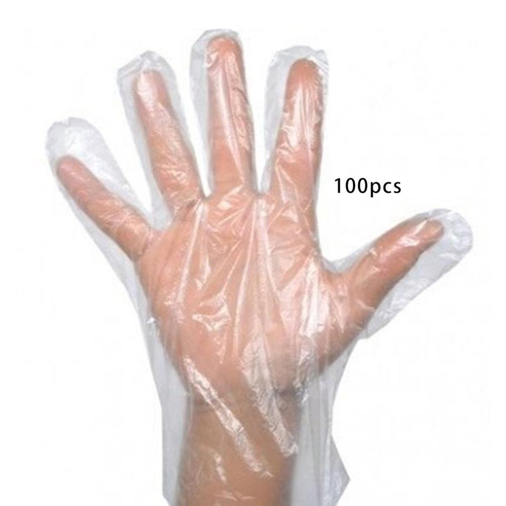 Food Plastic Gloves Pe Eco-Friendly Fruit Vegetable Gloves Disposable Gloves For Restaurant Kitchen Bbq 50/100Pcs