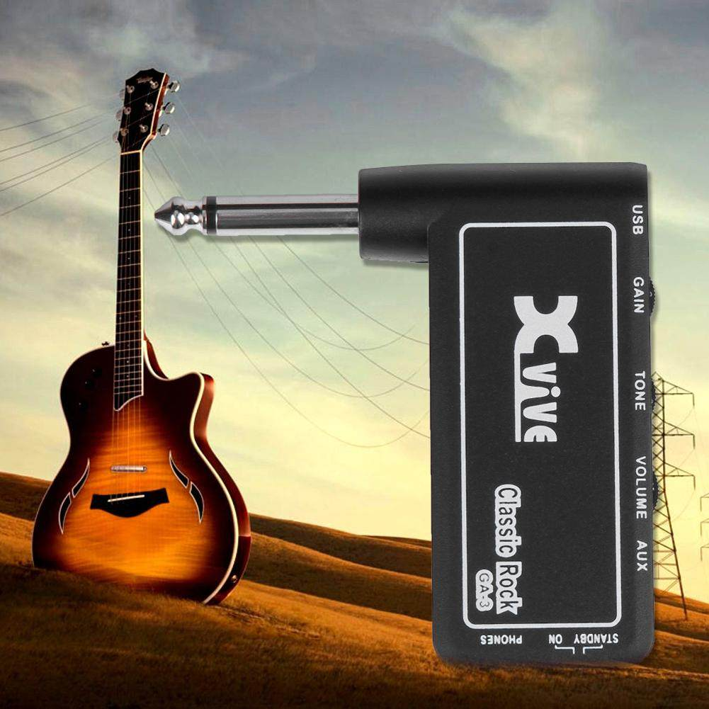 Mini Low Distortion Effector Headphone Amplifier Heavy Rock Home Audio Rechargeable Musical Instruments Electric Guitar Plug