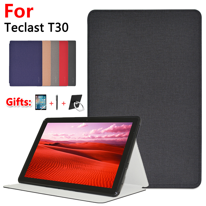 """Newest Stand Case For Teclast T30 10.1"""" Tablet PC Silicone Soft Shell Protective Case Cover + Film Gfits"""