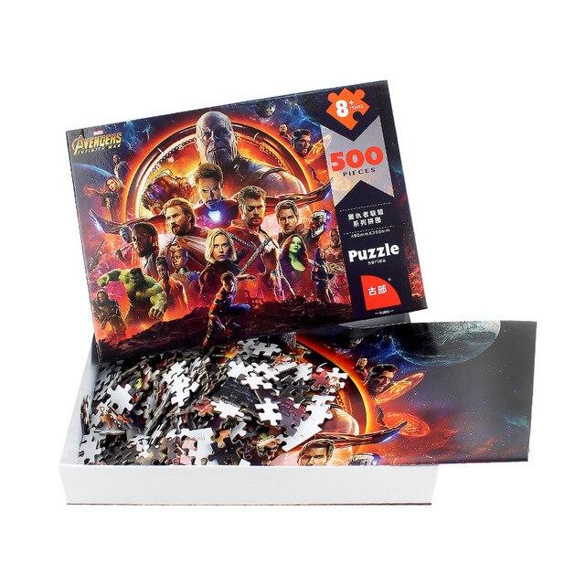 Disney 500 Piece Puzzle Avengers Marvel Intelligence Toy Puzzle 500 Piece Children Adult Puzzle Educational Toys Brain Teaser 2