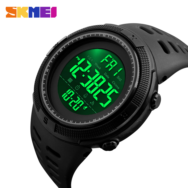 SKMEI Chrono Digital Watches Mens Sport Countdown Wristwatches Men Fashion 2 Time Alarm Clock Watches Male Reloj Hombre 1251