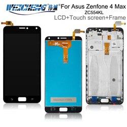 Para asus zenfone 4 max zc554kl display lcd + tela de toque com montagem do quadro 5.5 1920 1080 x para asus zc554kl lcd preto