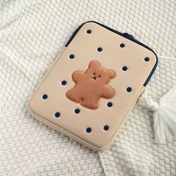 71011 6121313 314 1515 415 61717 317 4notebook laptop sleeve bags neoprene soft handdle laptop tablet pc case bag Cute Bear Laptop Case Protective Cover Laptop Ipad Pro 9.7 11 13 Inch Storage Sleeve Inner Bag Tablet Sleeve Bag Pouch 2021
