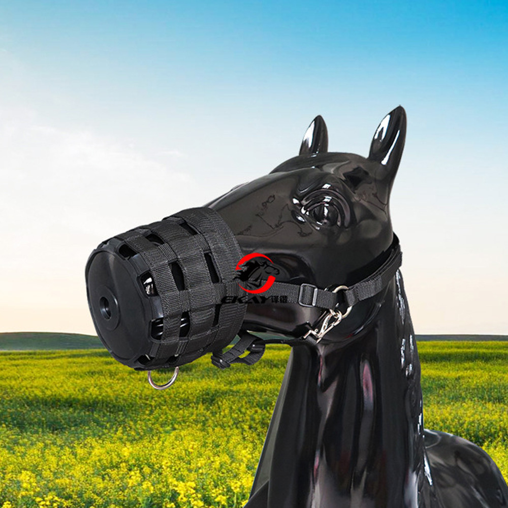Adjustable  Nylon Woven Belt Horse Mouth Cover Outdoor Anti-Bite Set Bottom Soft Hard-working Horse Care Product