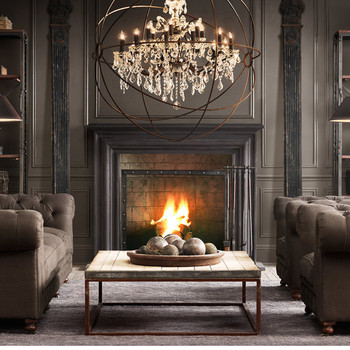 Vintage Crystal Chandelier  Church living room light  Mid century Rustic Candle Chandeliers globe birdcage LED lighting modern chandeliers lights led crystal candle chandelier murano venetian style chandeliers multi tier chandelier crystal pendants