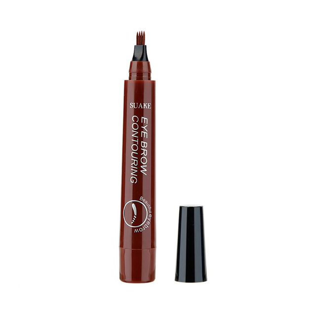 4 Head Henna Eyebrow Pencil Tint Microblading Waterproof Tattoo Pen Gray Red Brown Eye Brow Marker Long-lasting Easy to Wear 4
