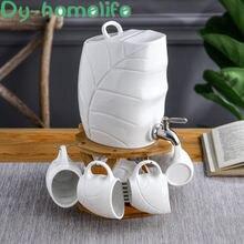 Керамический чайный сервиз с пластиковым краном и большой емкостью