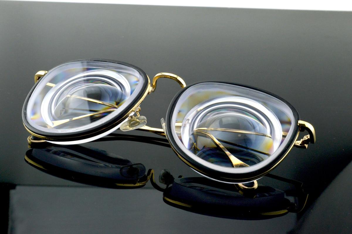 Women Super Large Frame Custom Made High Myopic Girl Glasses Myodisc Glasses -14D PD64