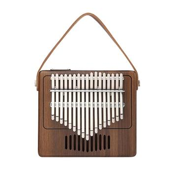 Protable Piano 17 Keys Kalimba Thumb Piano High-Quality Wood Mahogany Body Musical Instrument With Piano Tuning Hammer TK-R1 new hot walnut wood piano treble stick double ended mediant and alt for piano tuning mute