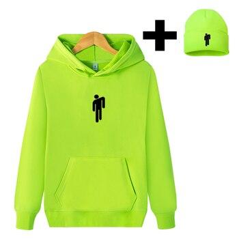 new hoodie unisex hoodie with knitted hat, fisherman hat, hip-hop loose solid color printed men's sweatshirt