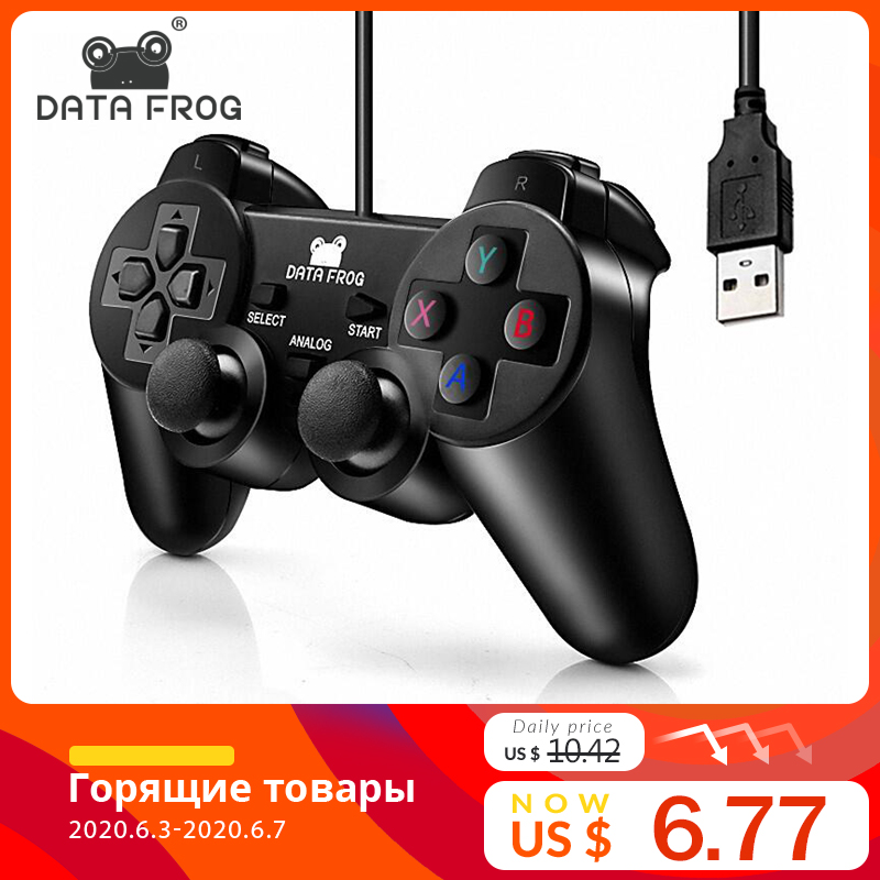 Vibration Joystick Wired USB PC Controller For PC Computer Laptop For WinXP/Win7/Win8/Win10 For Vista Black Gamepad(China)