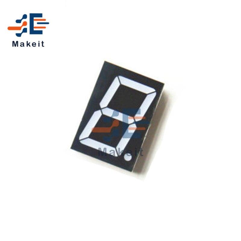 10 Pins 1.8 inch 1 Bit Digit Red Led Display 7 Segment Common Cathode Digital Display Board Module Diy Kit