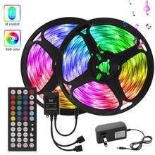 Girlande LED Licht Musik Sync Led Streifen Controller Luz de LED 12V SMD5050 Schrank Hintergrundbeleuchtung Neon Lampe Led Küche licht hat Weiß