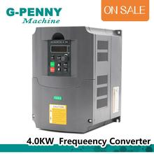 цена на CNC Frequency driver 4kw 220v VFD spindle speed control Variable Frequency Drive VFD Inverter 3HP Input 3HP Output High Quality!