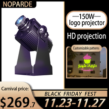 Extérieur étanche 150w rotatif Gobo projecteur Led personnalisé publicité Image signe loin Distance Logo lumière projecteur