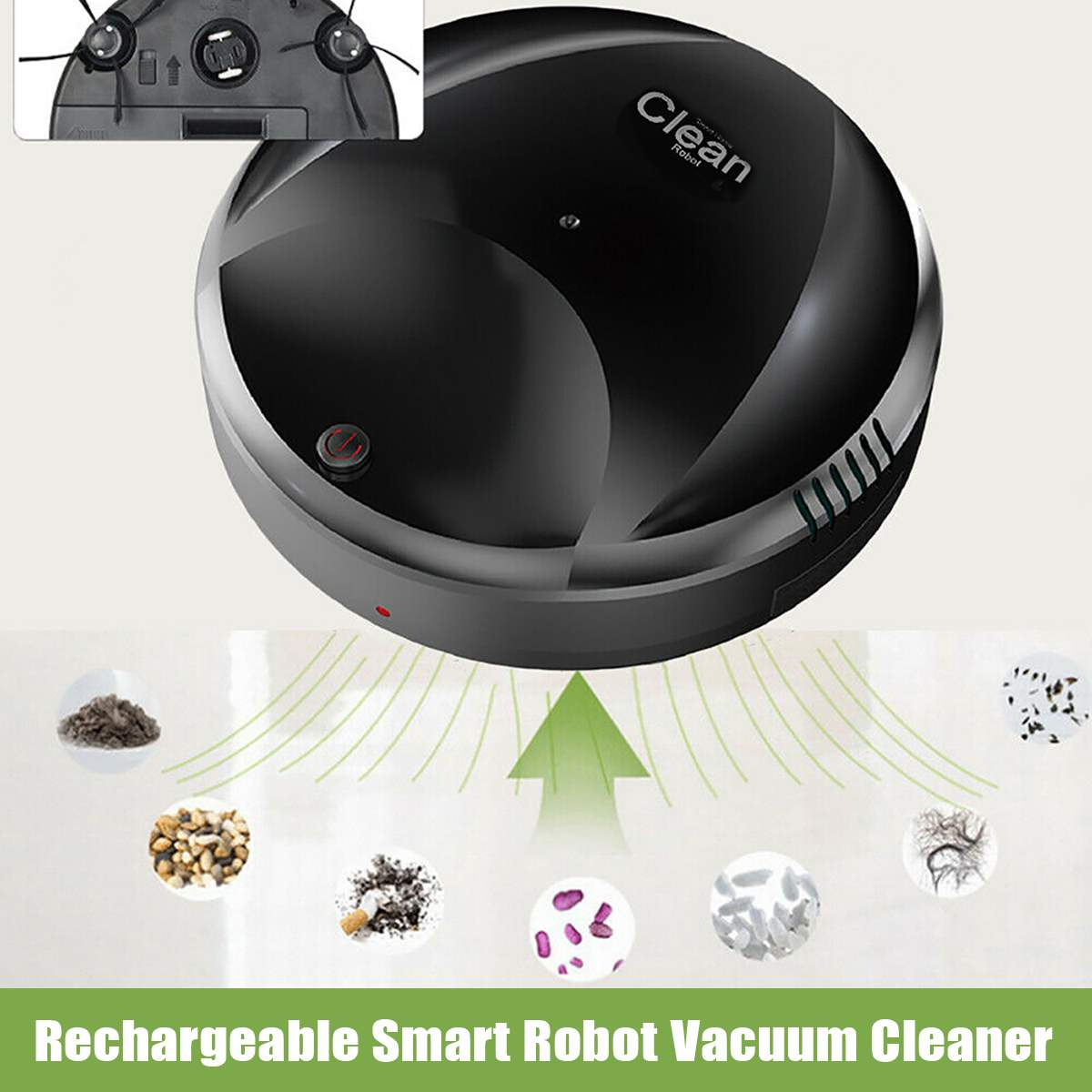 Self Navigated Auto Sweeper Hair Clean Rechargeable Smart Robot Vacuum Cleaner Dirt Dust Hair Cleaner Smart Sweeping Robot|Brooms & Dustpans| |  - title=