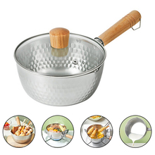 Japanese Pan Non-stick Pan Noodle Pot Milk Pot with Wooden Handle for fried Chicken Vegatables Soup Kitchen Cooking Tools