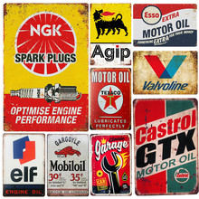 Garage-Rules Tin-Signs Wall-Decor Up-Poster Plaque Vintage Metal Pub Gas-Oil-Bar Rustic-Pin