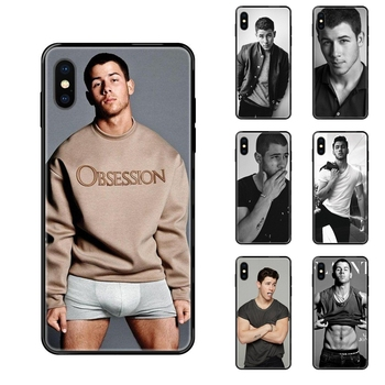 Black Soft TPU Cases Capa Cover Nick Jonas For Xiaomi Mi Note A1 A2 A3 5 5s 6 8 9 10 SE Lite Pro Ultra Light image