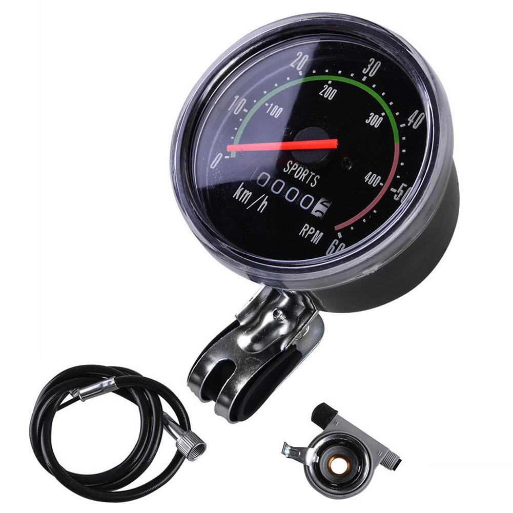 Bike Cycling Speedometer Odometer Mountain Bike Round Meter Gauges Stopwatch Riding Equipment Mechanical Code Table in Bicycle Computer from Sports Entertainment