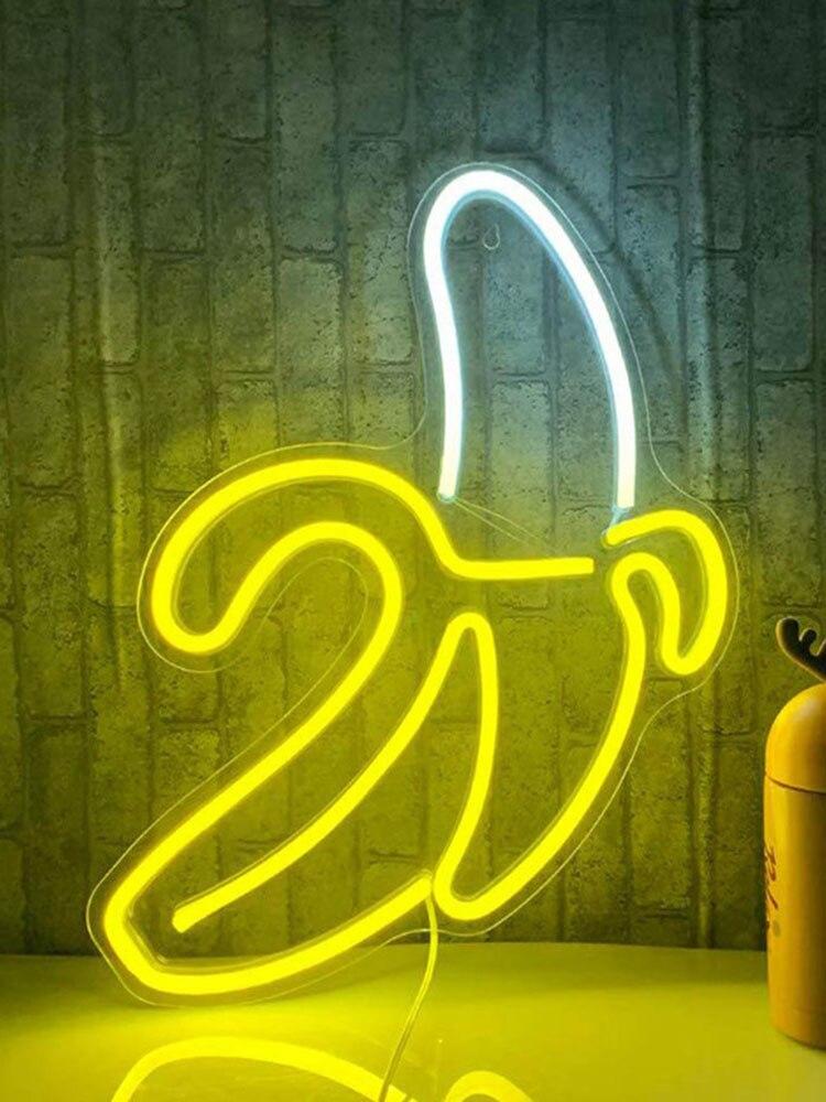 Bananeira em forma de néon sinais led