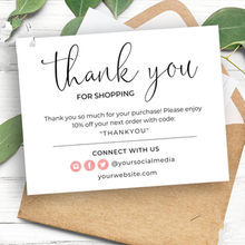Thank You Business Card , Thank You Note For Purchase, Custom Text Social Medial Card,Personalize Logo Business Name Card(China)