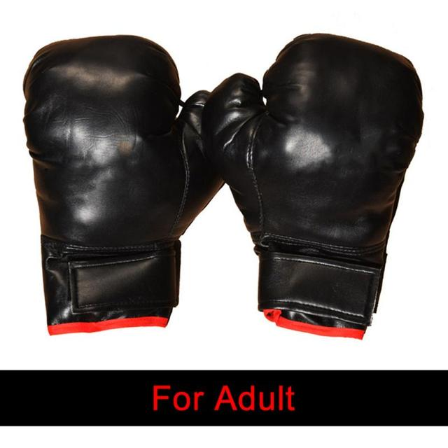 Professional Boxing Gloves PU Leather Liner Sponge R Flame Gloves Sanda Training Glove Fitness Boxing Gloves For Adults Kids 5