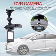 где купить 2.4 Inch Dash Cam Car Camera DVR 270 Degrees Whirl Dash Cam LED IR Light Vehicle Road Dash Video Recorder по лучшей цене