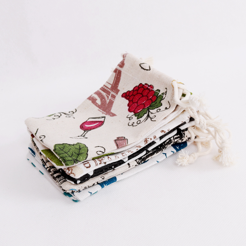Wholesale 50pcs/lot Gifts Bags Pretty Cotton Bags Small 8x10cm Fashion Jewelry Earrings Pendants Packing Pouches Multi Colors