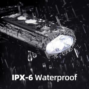 Image 4 - ROCKBROS Bicycle Light IPX 6 Waterproof Bike Flashlight Power 1800 Lumens LED USB Rechargeable Bicycle Handlebar Light Headlight