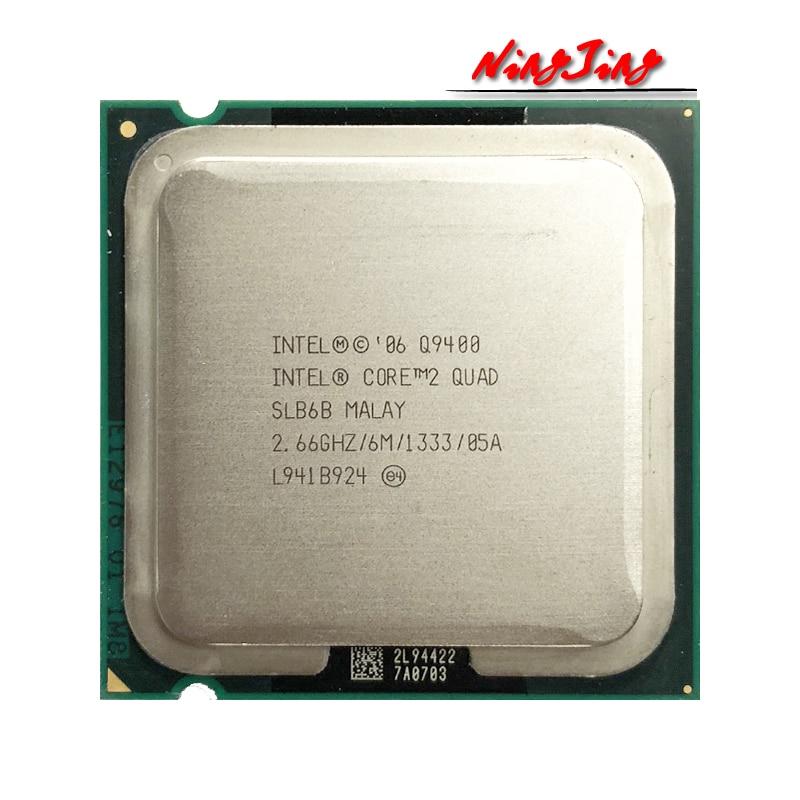 Процессор Intel Core 2 Quad Q9400 2,6 ГГц четырехъядерный четырехпоточный ЦПУ Процессор 6 Мб 95 Вт LGA 775