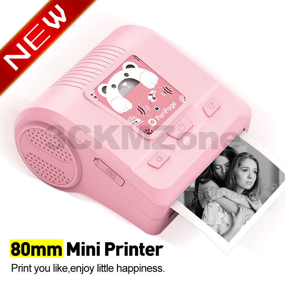 Peripage Thermal Printer 80mm Bluetooth Wireless Photo Notes Pocket Lable Stiker Printer Paper For Birthday Christmas Gift