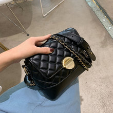 2019 New Lingge Chain Shoulder Bag Casual Crossbody Women Small Square