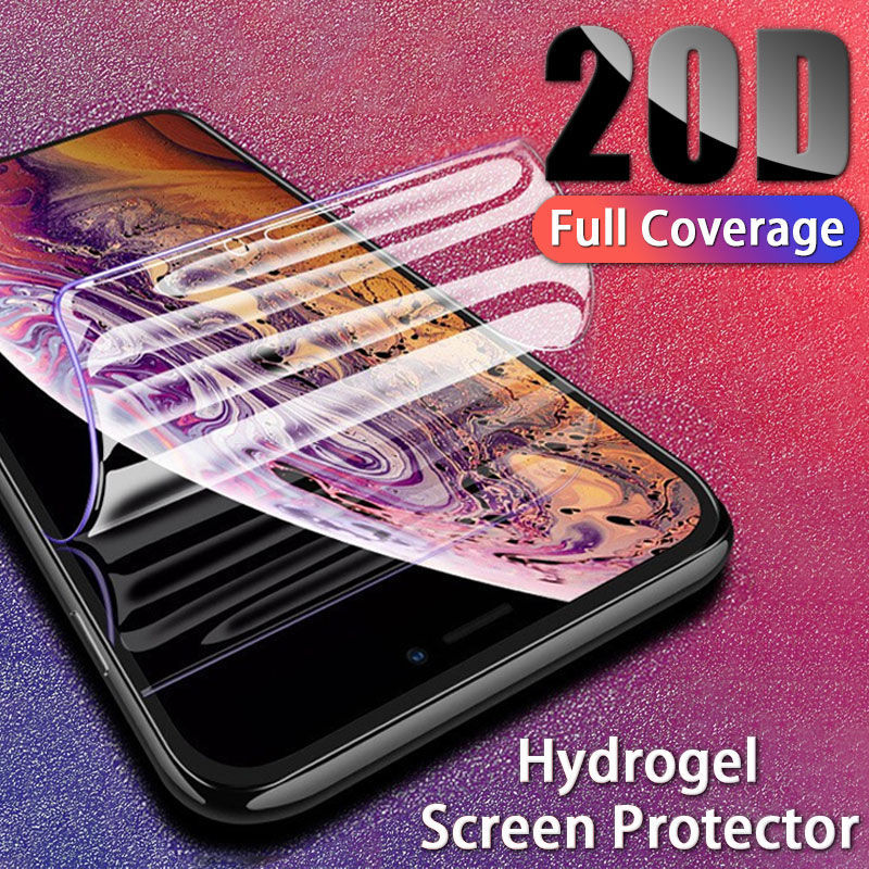 20D Hydrogel Full Cover Screen Protector For IPhone X XR XS MAX Protection For Iphone 6 8 7 6s Plus Protective Film Not Glass