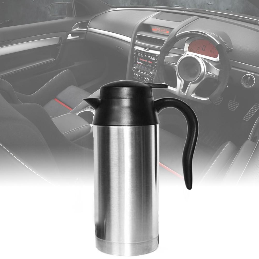 750ML 12V/24V Universal Truck Car Electric Heating Cup 120W Stainless Steel Boiling Mug Kettle Thermos