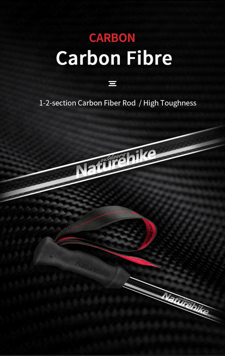 180g ultraleve carbono + vara de alumínio