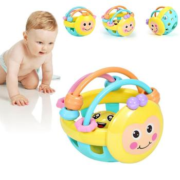 Cute Baby Rattles Toy Hand Hold Jingle Shaking Bell Early Educational Toy Gifts Baby Toys Newborn I9A6 Development N5O5 недорого