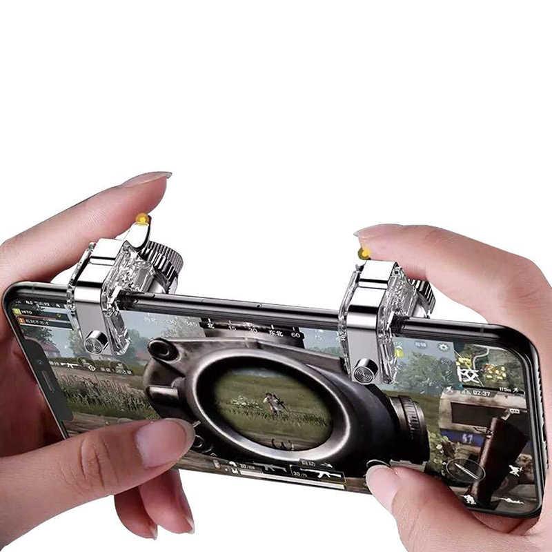 Pubg コントローラ R11 金属ゲームパッド pubg 携帯トリガー制御スマートフォンゲームパッド L1R1 ゲームのシューティングゲーム iphone アンドロイド鶏