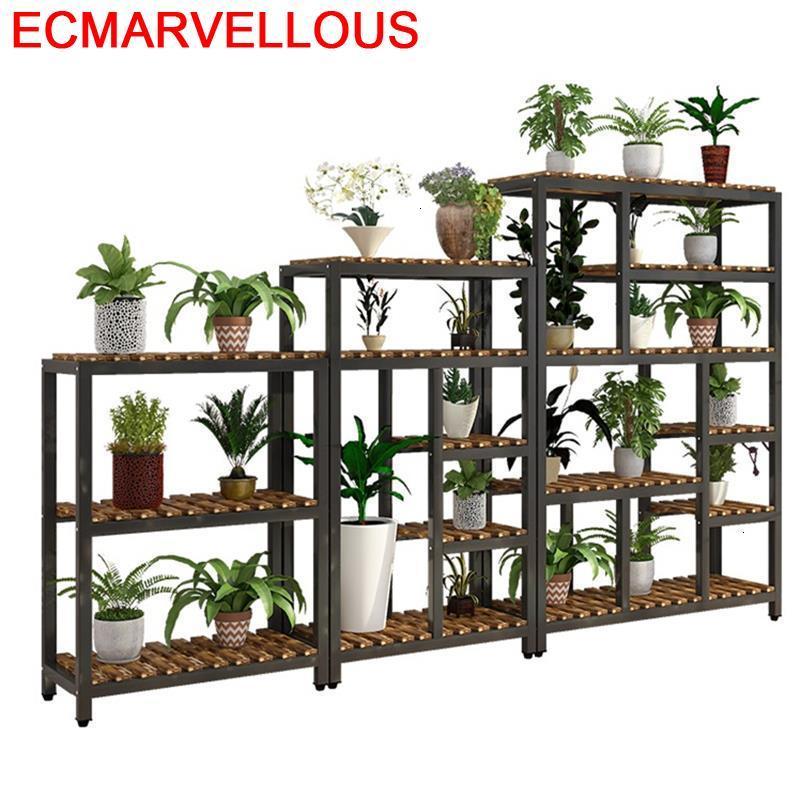Plantenrekken Varanda For Saksi Standi Rak Bunga Balkon Etagere Pour Plante Outdoor Balcony Flower Shelf Rack Plant Stand