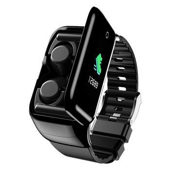 Smart Watch 2 In 1 Multifunctional Stylish Wireless Bluetooth Headset Bracelet Fitness Tracker Wristband Earphone For Men Women