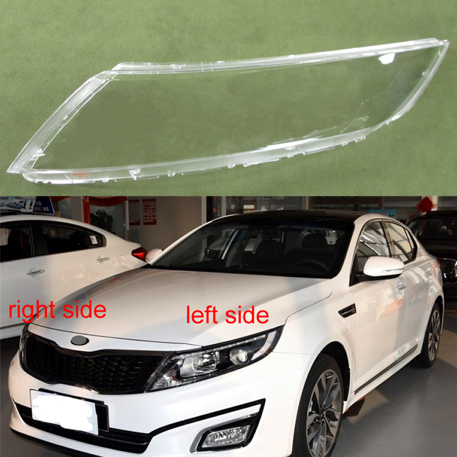 For Kia K5 2014 2015 Front Headlamp Cover Transparent Lampshades Lamp Shell Masks Headlight Cover Lens Glass