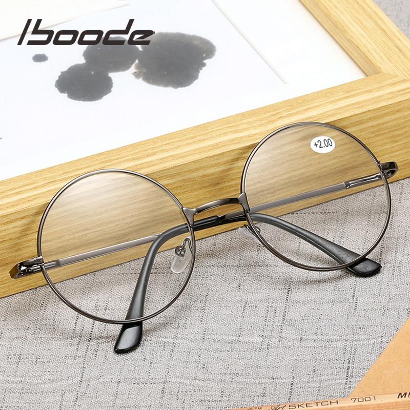 Iboode Retro Metal Round Reading Glasses Finished Diopter +1.0 1.5 2.0 2.5 3.0 3.5 Unisex Reading Presbyopia Glasses Women Men