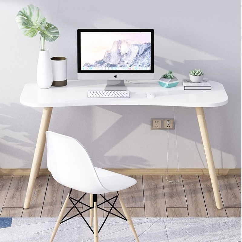 Simple Computer Desk Home Office Dorm Wooden Stand Desk Portable Writing Study Table Notebook Laptop Desk